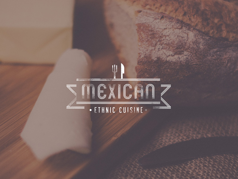 Mexican Ethnic Cuisine Vintage Logo