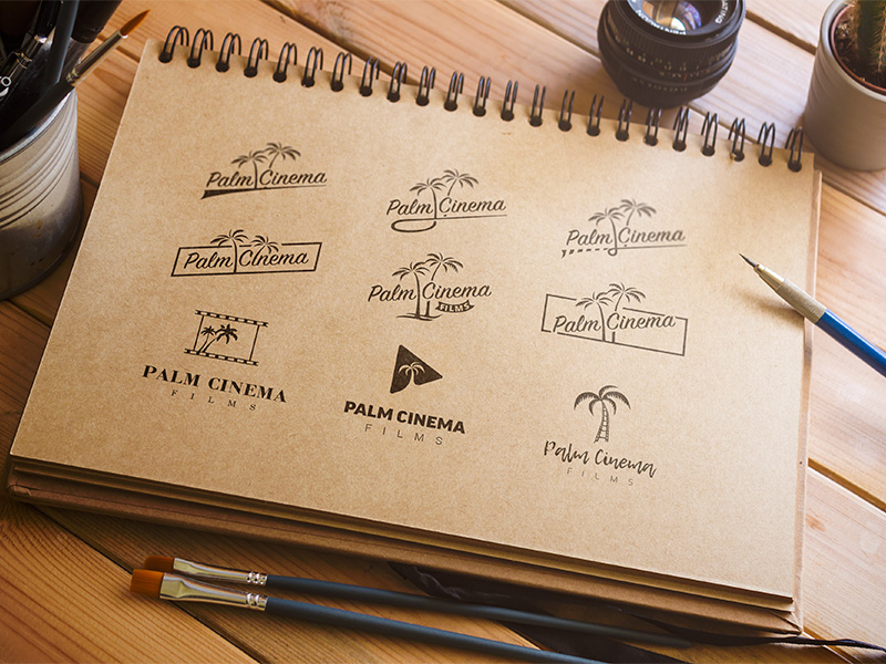 Palm Cinema Logo Variations